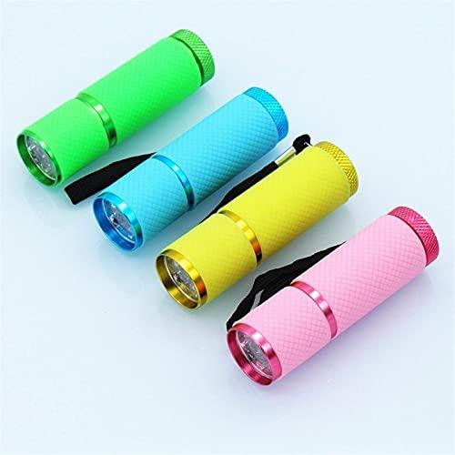 BZM Lámpara de uñas LED UV, mini lámpara de secado de uñas, máquina de uñas portátil con linterna, adecuada para uñas y pedicura para el hogar y el salón (amarillo)