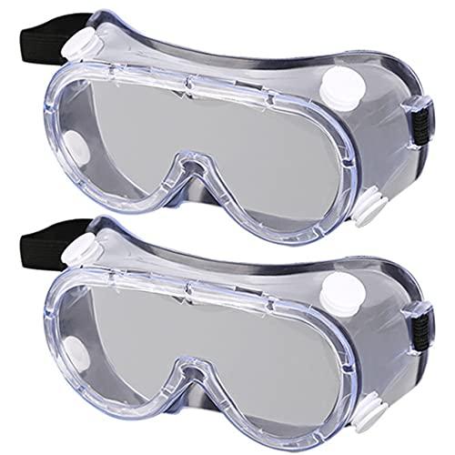 Gafas de Laboratorio VISADOR ANTERIORES 2 Pares Gafas de construcción Eyewear Protector