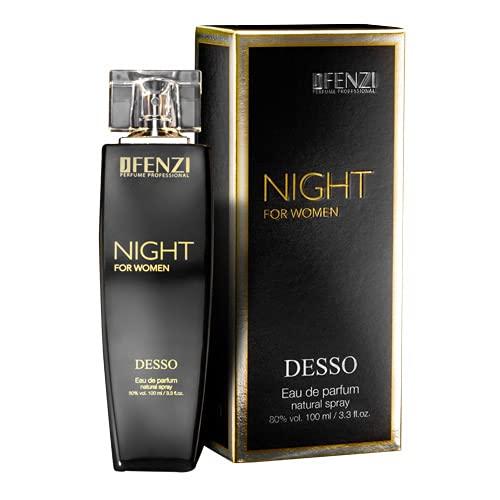 Jfenzi Night for Woman Desso Eau de Perfume para mujer, 100 ml