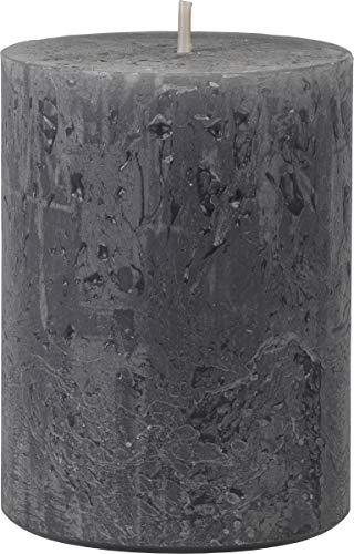 safe candle Rustic Kerze selbstverlöschend, 4 Stück, Höhe 8 cm/Ø 6 cm, 25 Std. Brenndauer (Anthrazit)