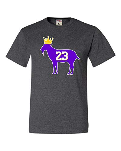 Go All Out Large Heather Black Adult Goat James G.O.A.T. King T-Shirt
