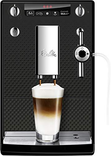 Melitta Caffeo Solo & Perfect Milk E957-305 Schlanker Kaffeevollautomat mit Auto-Cappuccinatore | Automatische Reinigungsprogramme | Automatische Mahlmengenregulierung | Anthrazit
