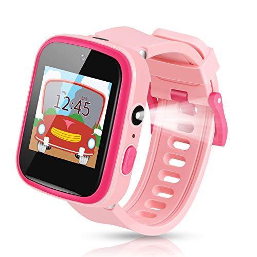 Smartwatch Kinder, Enow 1.54'' HD Berührung Bildschirm Wasserdicht Kinder smartwatch, mit 9 Spiel Musik Uhr Kamera Wecker Taschenlampe, Weihnachten/Geburtstag Geschenk für Kinder Mädchen Junge