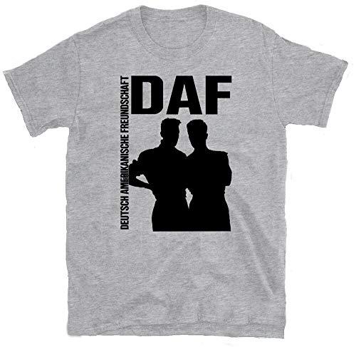 OF DAF T-Shirt, Liaisons DANGEREUSES NITZER EBB, Front 242, GRAUZONE, SPK, DER Plan Grey XL