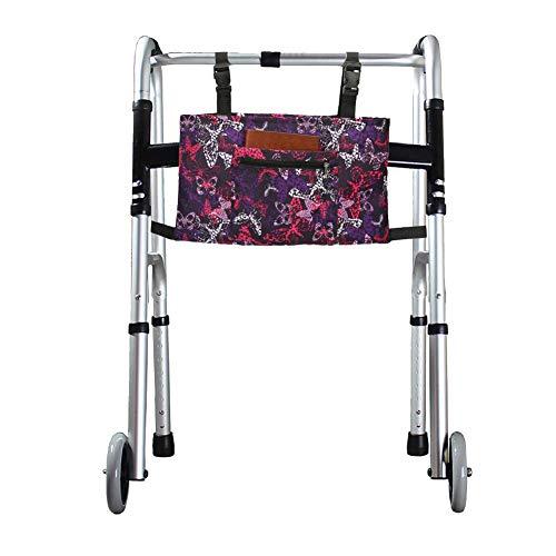 Bolsa para silla de ruedas, bolsillos para silla de ruedas, bolsa para scooter de movilidad, accesorio para andador, bolsa de almacenamiento para la mayoría de los andadores plegables o enrolladores