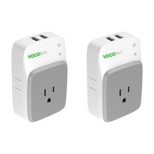 VOCOlinc PM3 Smart Plug Outlet with 2 USB Charging Ports, Energy Monitoring, Adjustable Night Light, Works with Apple HomeKit, Alexa and Google Assistant, No hub required, Wi-Fi 2.4GHz