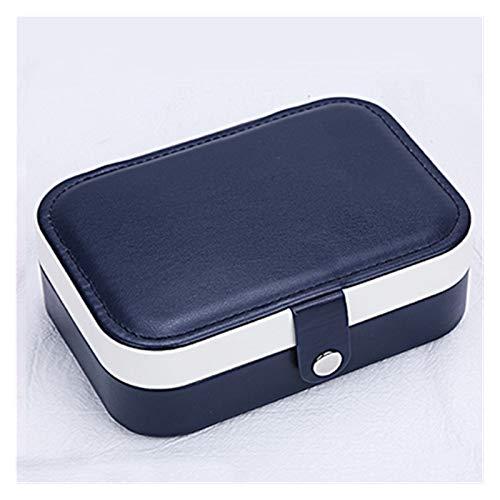 PPLAS Joyería de joyería Caja de joyería de múltiples cuadrículas de Estilo Simple Maquillaje Organizador Organizador de joyería Belleza Caja de Viaje Pantalla de Almacenamiento (Color : Blue)