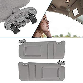 ECCPP Gray Sun Visor Pair Left and Right Side fit for 2006 2007 2008 2009 2010 2011 for TOYOTA Camry Sedan 4-Door 7432006780B0 74310-06750-B0 Automobile Windshield Visor Without Sunroof