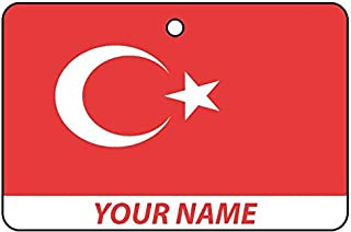 Turkey Flag Custom Car Air Freshener