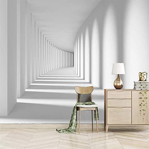 Papel Pintado Pared Autoadhesivo Fotomurales 400 x 280 cm 200g/m2 - Pasillo 3D - Papel pintado tejido no tejido Decoración de Pared Murales Moderno