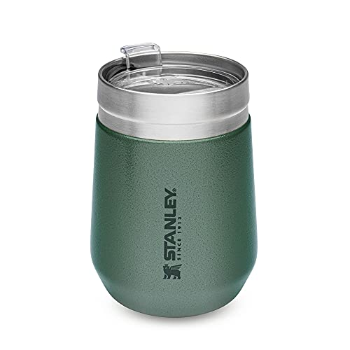 Stanley Go Everyday Tumbler 0.29L / 10 OZ Hammertone Green – Stainless Steel Tumber for Wine, Cocktails, Coffee, Tea - Keeps Cold / hot for Hours - BPA-Free - Dishwasher Safe - Lifetime Warranty