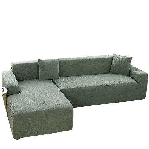 Funda de sofá de jacquard tridimensional en relieve impermeable, fundas de sofá de polvo con todo incluido, decoración de sofá en casa transpirable y cómoda (Matcha green,A-A 1-seater 90-140cm)