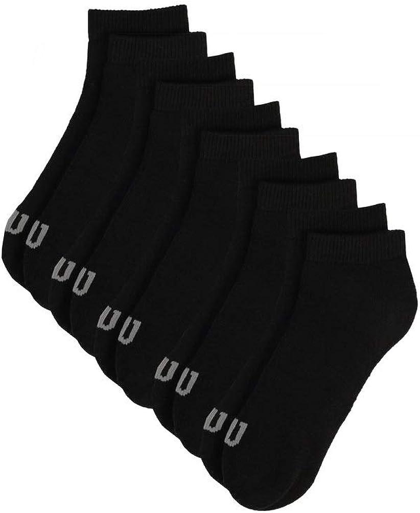 WILSON mens Athletic Moisture Wicking Low-cut Socks, 5 Pack Multipack