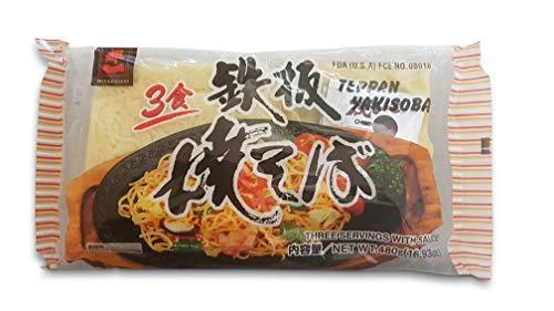 Yakisoba Weizennudeln, Bratnudeln, Nudeln zum Braten vorgekocht mit Gewürzmischung und Sauce 480g