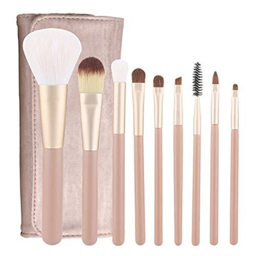 Lot de 10 pinceaux de maquillage marron/noir pour fard à paupières, fond de teint, blush et pinceaux de maquillage professionnel