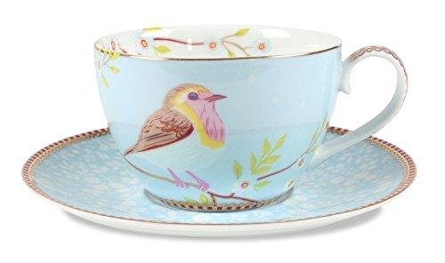 PiP Studio Cappuccino Tasse mit Untertasse | Blau - 280 ml