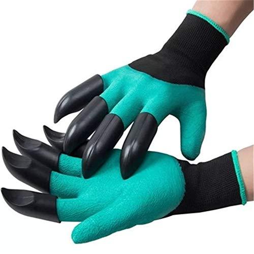 GYJ 4 Stück ABS Kunststoff Krallen Handschuhe liefert Gartenpflanze, mit Krallen, grün, schnell, einfach, ohne Werkzeug zu Graben, Eltern und Gärtner