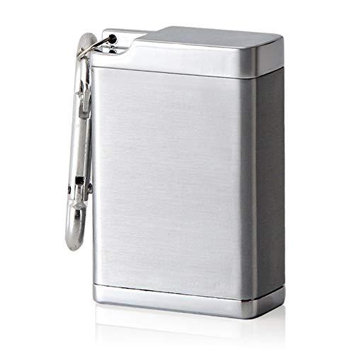 Gwolf Posacenere portatile Mini portacenere antiodore, Posacenere per sigarette per uso esterno, Portacenere per fumatori, Portacenere da fumo tascabile da portare facilmente in viaggio, grigio