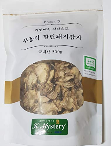 Non-Pesticide Dried Jerusalem Artichoke, 무농약 말린 돼지감자 300g (10.6oz), No Agricultural Chemicals, from South Korea 100%