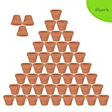 48pcs Clay Pots, 2'' Terracotta Pot Clay Ceramic Pottery Planter, Cactus Flower Terra Cotta Pots, Succulent Nursery Pots, with Drainage Hole, for Indoor/Outdoor Plants, Crafts