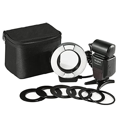 YIDOBLO 14EXT iTTL TTL LED Macro Ring Flash Light Compatible con Nikon D4 D800 D5200 D7100 Cámara DSLR con montaje de zapata caliente