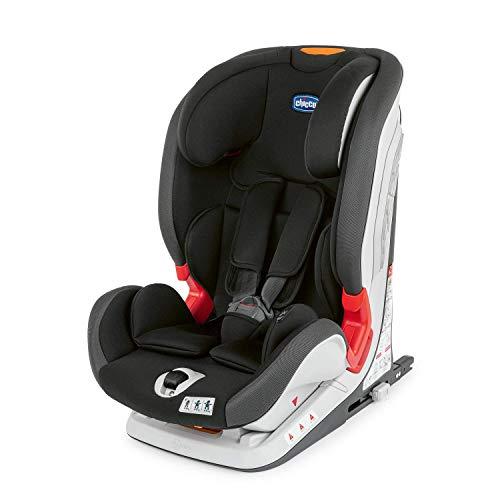 Chicco YOUniverse Fix Auto Kindersitz 9-36 kg mit ISOFIX, Gruppe 1 / 2 / 3 für Kinder im Alter von 1 bis 12 Jahren, mit Seitenschutz und Verstellbarer Kopfstütze, Jet Black