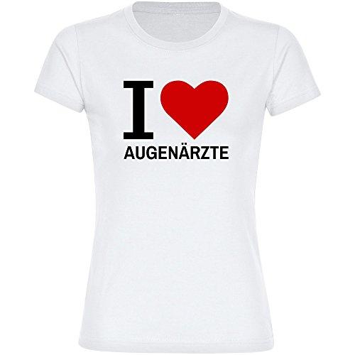 T-shirt Classic I Love Eyeliner wit dames maat S tot 2XL
