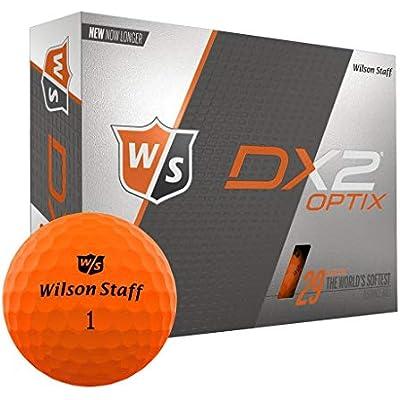 Wilson Staff Bolas de Golf Pack de 12, Principiantes, Compresión 29, Dx2 Soft, Hombre, Naranja neón, Talla Única