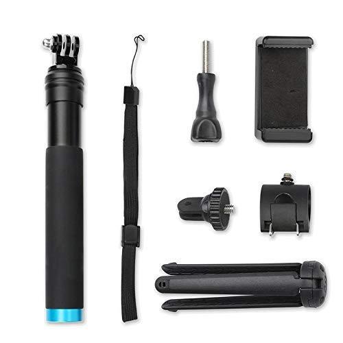 FBUWX Eficiente palo de aluminio negro T-ripod para selfie extensible Monopod Handheld Pole para G-O-P-R-O H/e/r/o 8/7/6/5 S-JCAM EKEN para S-o-ny X-I-aomi Y//I (Color: Blcak Set) Reemplazo desgastado