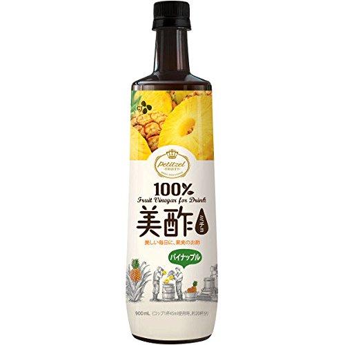 韓国で定番の飲むお酢【プティチェル美酢パイナップル】(900ml)