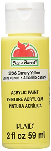 Apple Barrel Acrylic Paint in Assorted Colors (2-Ounce), 20586 Canary Yellow