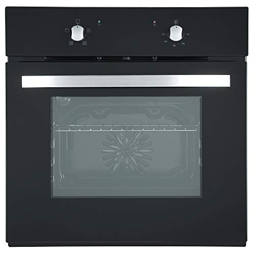 Cookology SFO57BK 60cm Built-in or under Single Electric Fan Oven in Black