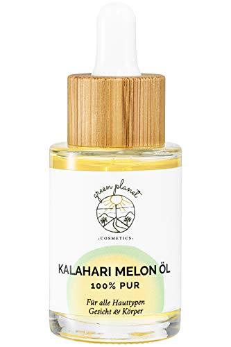 green planet . COSMETICS.   Aceite de Melón Kalahari Prensado en Frío   Cosmética Natural   Para Rostro y Cuerpo   100 % Puro y Vegano   30 ml
