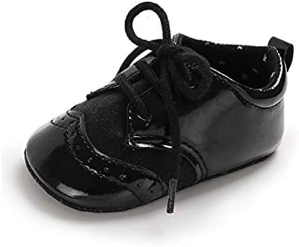 BENHERO Baby Boys Girls Oxford Shoes Soft Sole PU Leather Moccasins Infant Toddler First Walkers product image