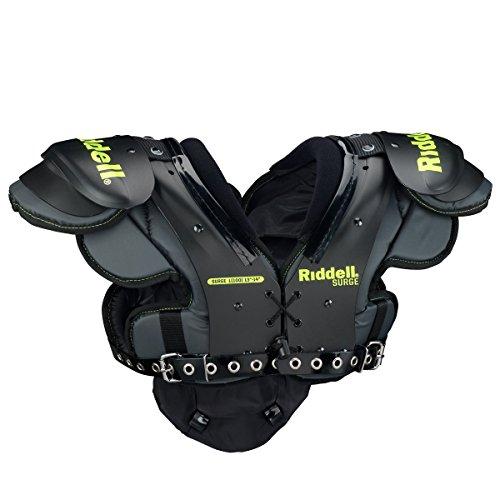 Riddell Surge Youth Shoulder Pad, X-Small , Black/Volt