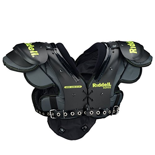 Riddell Surge Youth Shoulder Pad, X-Small , Black/Volt