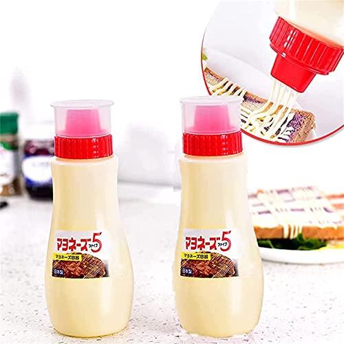ZDDO Botellas Exprimibles Porosas, Botella Exprimible De Condimentos Recargables A Prueba De Fugas, Botellas Exprimibles para Salsas, Botella Exprimible De Salsa De Queso 2 Cajas