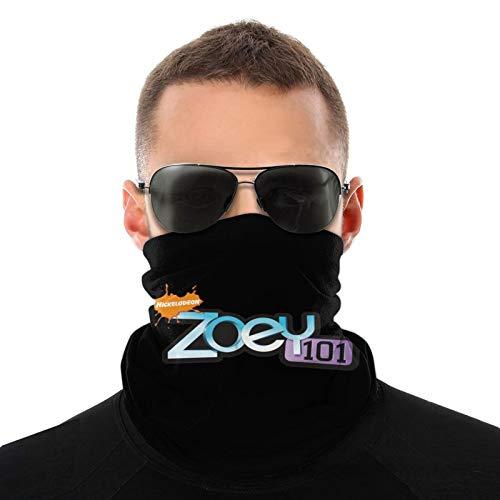 Zo-E-Y 101 Logo Face Mask Bandana Neck Gaiter Warmer Lightweight Balaclava Black