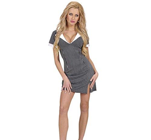 Widmann 77222 - Erwachsenenkostüm Gangster Girl, Kleid, Größe M
