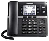 Panasonic DECT 6.0 Plus 4-Line Telephone System for Small and Midium Business, Corded Base Station (Main Console), Expandable up to 10 wirelessly, 6-Way Conferencing - KX-TGW420B (Black)
