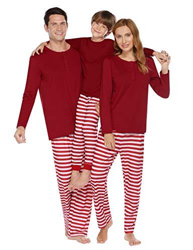 Ekouaer Girls Pajamas Christmas Pajamas Red Black 2 Piece Pjs Set Cotton Sleepwear