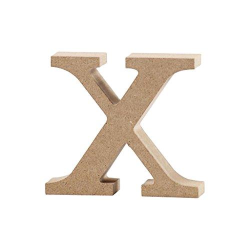 Lettre, h: 8 cm, MDF, x, 1 pièce