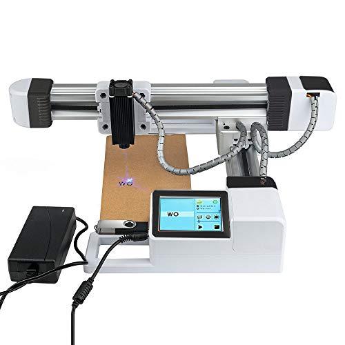 Vogvigo 3 W / 4,5 W / 7 W / 10 W Mini-Desktop-Laserengraver-Drucker, Offline-USB-CNC-Laser-Graviermaschine, mit Carver-Größe 155 x 175 mm, für Holz Papier Gummi Bambus Leder Kunststoff (10000mW)