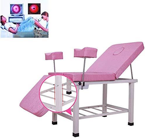 GLJY Tragbares gynäkologisches Untersuchungsbett Schönheitsbett Frauenbett Multifunktionales Spülprüfbett Hinternpflegebett Einfache Operation Medizinisches Entbindungsbett