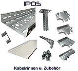 IPOS Kabelrinne Kabelkanal Zubehör Kabeltrasse Verzinkt Metallkanal Kabelpritsche (Kabelrinne 200 x 60 mm)