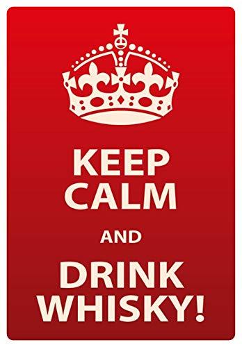 Metalen bord 20x30cm Keep Calm And Drink Whisky bord Tin Sign