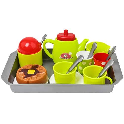 NOBRAND Juguete de Cocina 15 Unids / Set Vajilla Juego Gratis De Café DIY Mini Plástico Lindo Pretender Niños Juego De Té Desarrollo De Habilidades Juguetes De Cocina Color Al Azar