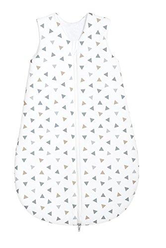 Odenwälder Jersey-Schlafsack Basic Dreiecke silber, Größe:110