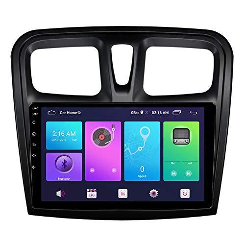 XXRUG Android Car Stereo Sat Nav para Renault Logan Sandero Duster 2015-2020 Unidad Principal Sistema de navegación GPS SWC 4G WiFi BT USB Mirror Link Carplay Incorporado