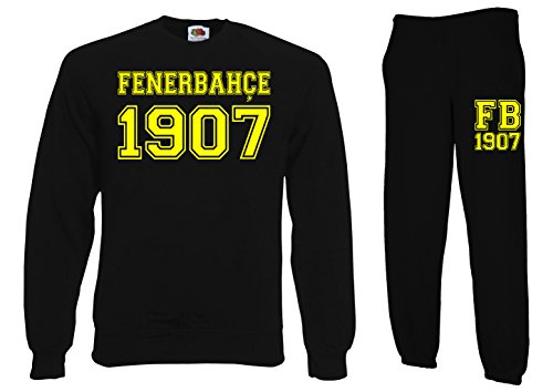 TRVPPY heren 2-delige set trui + joggingbroek model Fenerbahce Istanbul/in verschillende Kleuren/trainingspak joggingpak